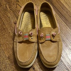Sperry leather boat shoes size 9